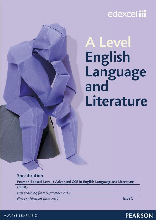 Link to Edexcel A level English Language and Literature specification page