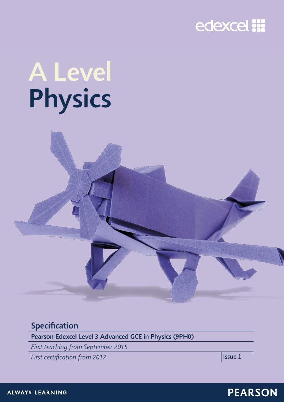 Link to Edexcel A level Physics specification page
