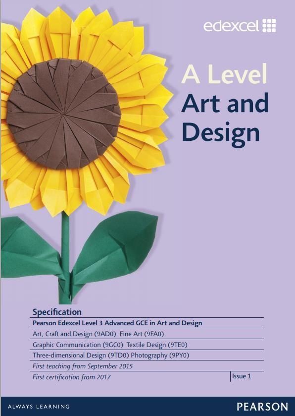 Link to Edexcel A level Art and Design specification page