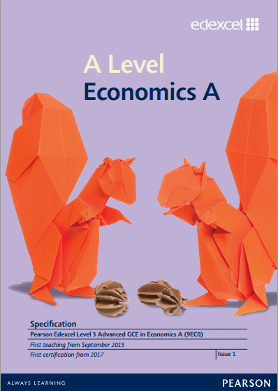 Link to Edexcel A level Economics A specification page