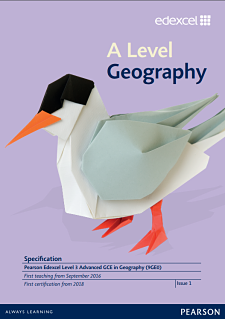 Link to A Level Geography  specification page