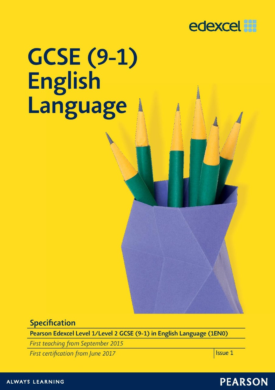 Link to GCSE (9-1) English Language specification page