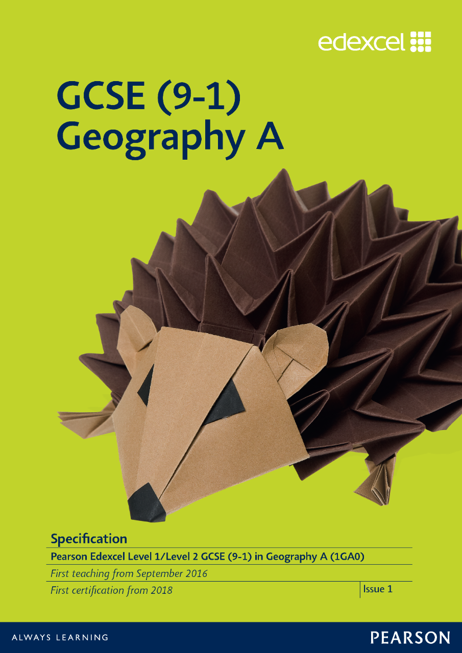 Link to Edexcel GCSE Geography A (2016) specification page