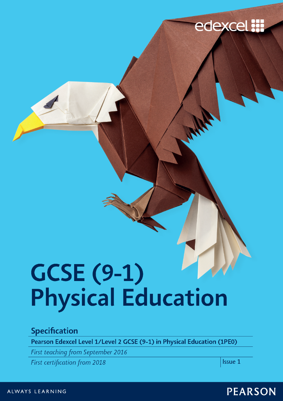 Link to Edexcel GCSE Physical Education (2016/2017) specification page