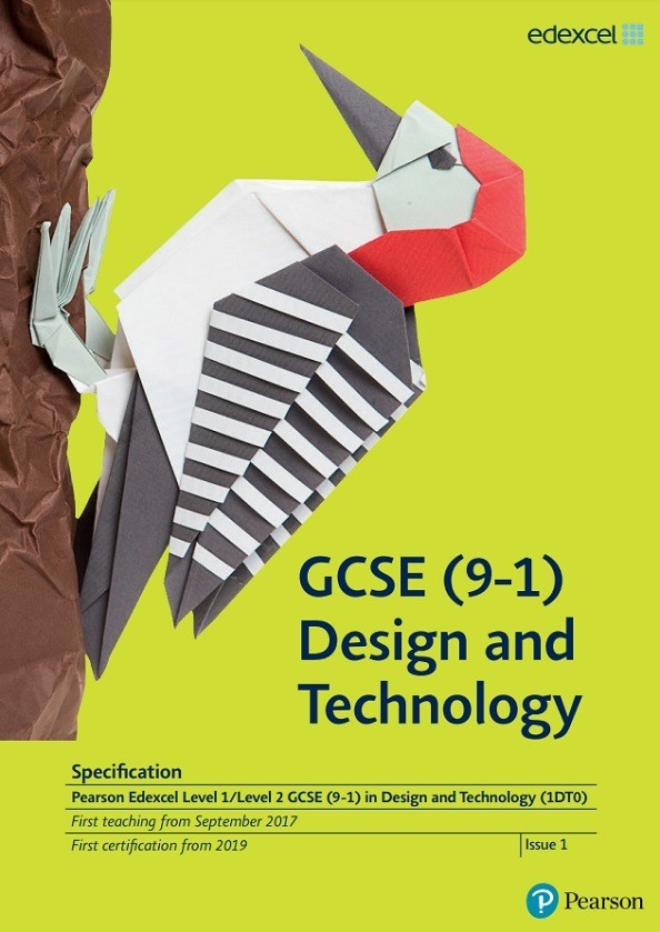 Link to Edexcel GCSE Design and Technology (9-1) from 2017 specification page