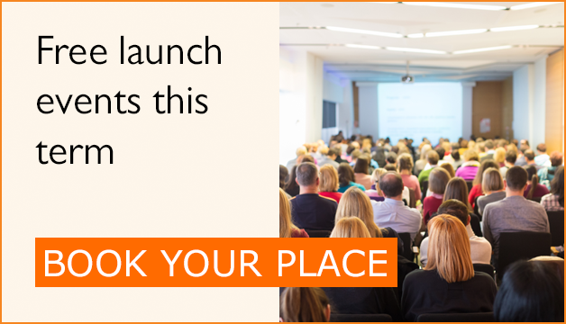 Free launch events this term - book your place