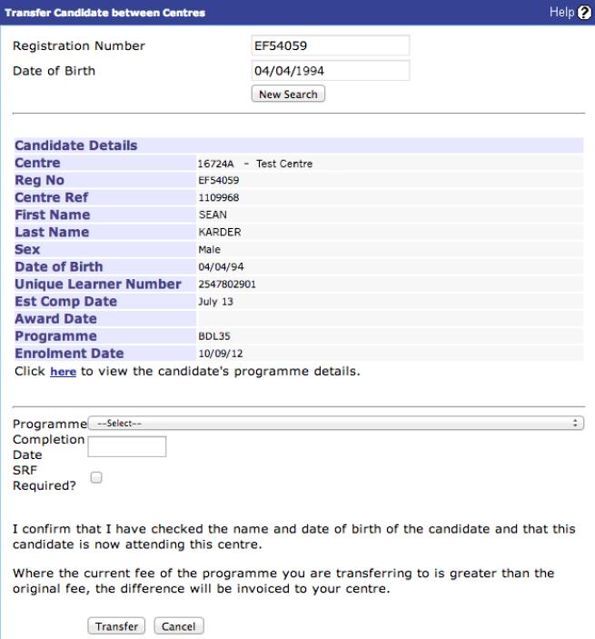 Sex key registration number